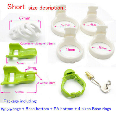 Latest Design Male Resin Chastity Device Restraint 4 Rings Cage Cock lock