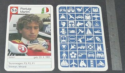 Carte Coureur Automobile 1984 Formule 1 Grand Prix F1 Pierluigi Martini Minardi