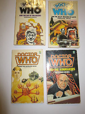 4 Doctor Who Paperback Books