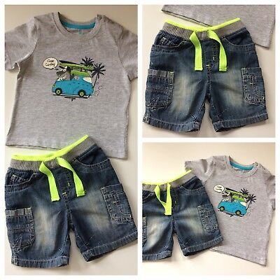 Baby Boys Clothes/ Lovely Boys Summer Clothes 12/18 Months (shorts & T-shirt)