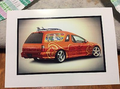 Holden Sandman Mambo Panel Van Classic Carlectables A4 Picture Commodore Surf