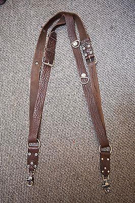 holdfast money maker leather camera strap / double harness - Brown water buffalo