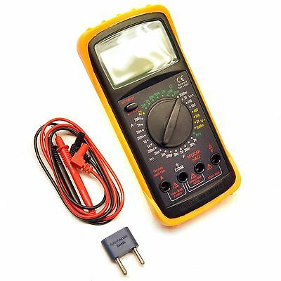 Digital Multimeter Voltmeter Ohm Battery Tester Ammeter Large LCD