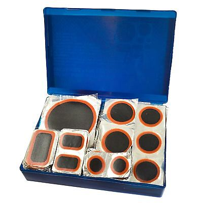 100pc Rubber Tyre Wheel Repair Patch Set Round and Rectangular