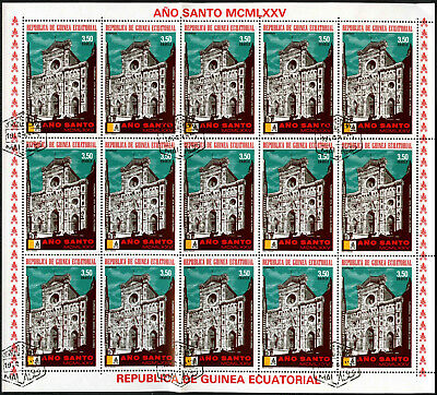 "Equatorial Guinea 1974, 3e50 ""Ano Santo"" Pope Paul VI Cto Used Full Sheet #V5653"