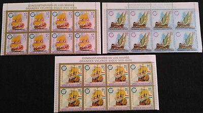 Equatorial Guinea 1973 Ships x 3 Cto Used Blocks Of 8 #V5658