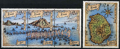 Nevis 1989 SG#517-520 Battle Of Figate Bay MNH Set #D54582