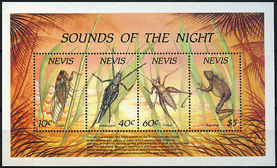 Nevis 1989 SG#MS525 Sounds Of The Night Wildlife MNH M/S #D54591