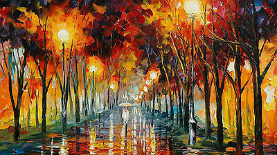 A Walk In The Park MODERN ART Oil Painting HD CANVAS Wall Art 20x30""