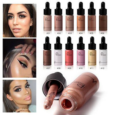 Makeup Highlighter Liquid Cosmetic Face Contour Brightener Glow Shimmer 12Colors