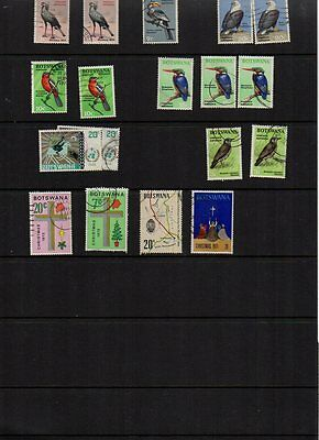 COLLECTION OF POSTAGE STAMPS: BOTAWANA inc. 1967 BIRDS