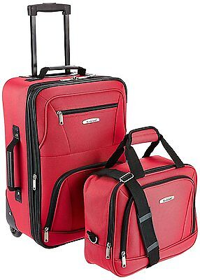 ROCKLAND Luggage 2-Piece Set, Red, One Size