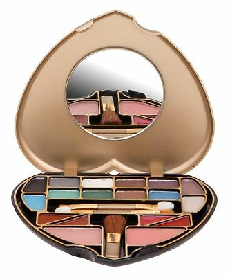 Make Up Palette Heart Cosmetic Beauty Gold Kit Set Case Small