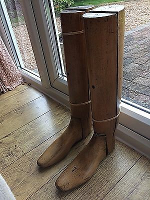Pair Of Fabulous Vintage Wooden Boot Trees Lasts