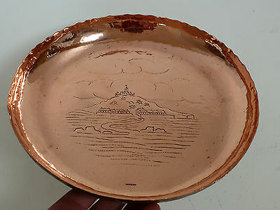 Genuine Newlyn copper tray St Michael's mount