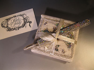 """Kirks Folly New """"notebook W/paper And Decorative Pen"""" L1 #12 Slight Damage Cover"""