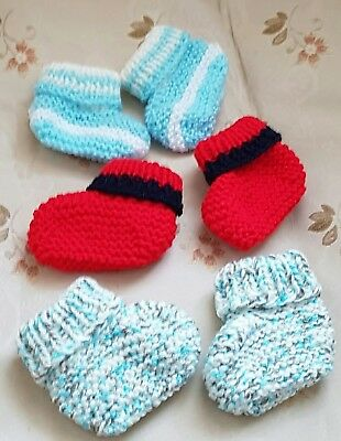 New hand knitted baby boots / booties in size 3-6 Months