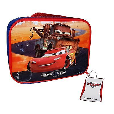 Disney Pixar Cars 3 Insulated Thermal Childrens Lunch Bag Box School Piston Cup