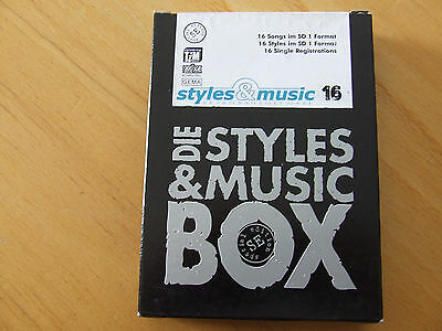 Styles & Music Keyboardsoftware 16:  16 Songs/Styles im SD 1 Format
