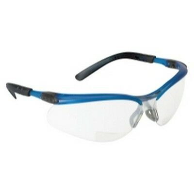 3M 11474 Reader Safety Glasses with I/O Mirror Lens, Blue Frame and +2.0 Diopter