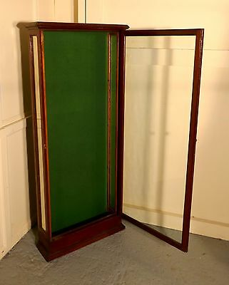 Victorian Mahogany Wall Hanging Shop Display Cabinet