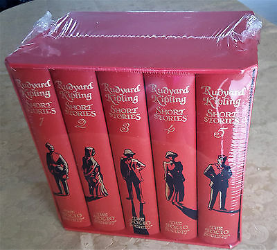 FOLIO SOCIETY RUDYARD KIPLING COLLECTED SHORT STORIES 5 Vol Box Set NEW SEALED