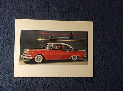 "1955 DODGE CAR 4 1/2"" by 6 1/4"" COLOR POST CARD #2"