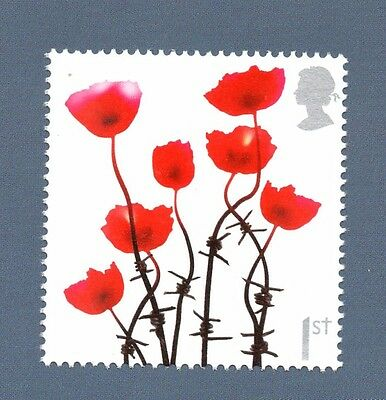 """BRAND NEW ROYAL MAIL STAMPS  A SHEET OF 20 x 1st CLASS STAMPS - """"LEST WE FORGET"""""""