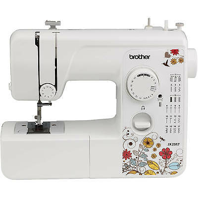 Refurbished Brother 17-Stitch Sewing Machine LED Work Area Included White FAST!!