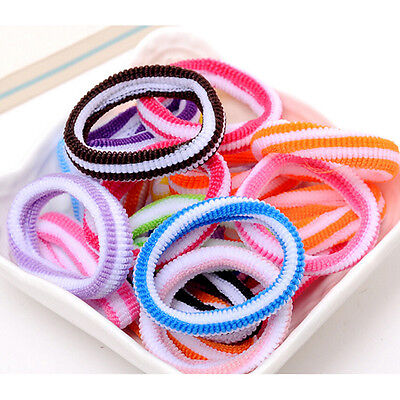 48pcs Elastic Children Hair Band Kids Colorful Random Baby Hair Accessories JX