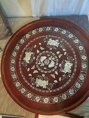 korean mother of pearl inlay tea table