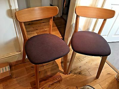 Two John Lewis Clio Dining Chairs