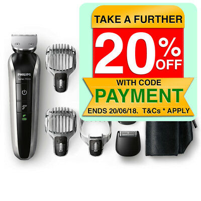 Philips QG3380 Multigroom 7000 10-in-1 Head to Toe Trimmer/Clippers Wet/Dry