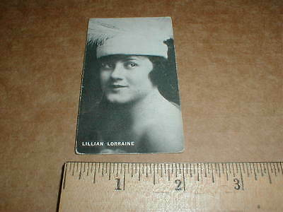 1916 Lillian Lorraine Ziegfeld Follies movie card Nuzum Plumbing Morgantown WV