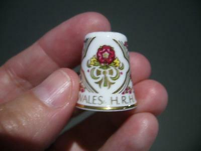 Vintage Spode Prince Williams Birth Collectable Thimble In Dome - England - Vgc