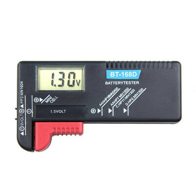 LCD Digital AA/AAA/C/D/9V/1.5V Durable Button Cell Battery Volt Tester Checker