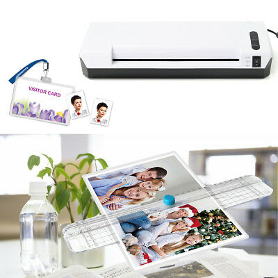 A4 Home Office Laminating Machine Laminator Hot/Cold Roller Thermal Pouch 220V