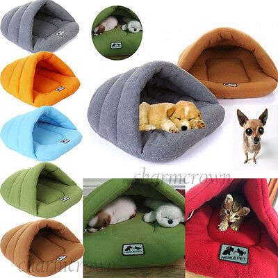 Cozy Puppy Pet Cat Dog Nest Bed Puppy Soft Warm Cave House Sleeping Bag Mat Gift