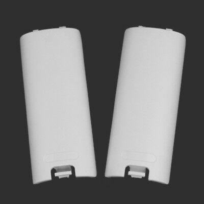 Wireless Battery Back Door Shell Cover Case Lids Wii Remote Controllers 2pcs