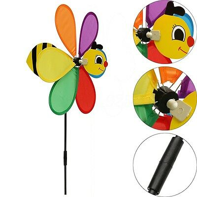 Bee Windmill Animal Wind Spinner Whirligig Home Yard Garden Decor Unassembled