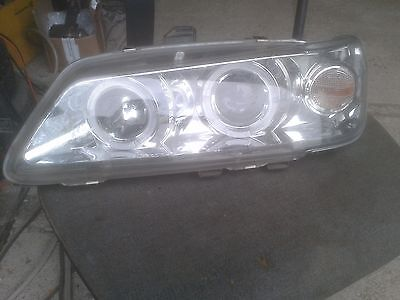 Angel Eyes Scheinwerfer Peugeot 306 Klarglas / Chrome Links