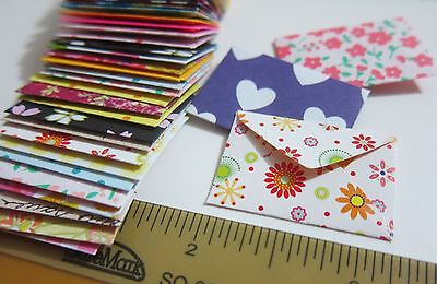 "Handmade miniature very tiny envelopes 3/4""x1-1/4"" little fairy mail cute small"