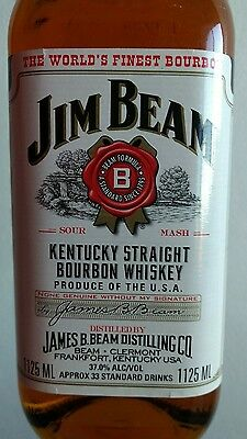 Jim Beam White Label Bourbon 1 litre