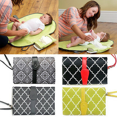 Newest Baby Nappy Diaper Changing Clutch Mat Foldable Pad Handbag Wallet Style
