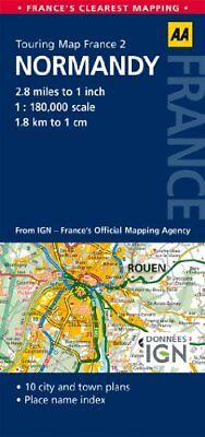 AA Road Map Normandy (AA Touring Map France 02) (AA Maps) by AA Publishing Book