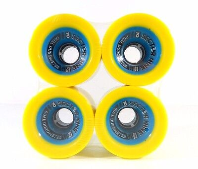Sector 9 Dual Durometer 70mm 78a Urethane 90a Core Longboard Wheels