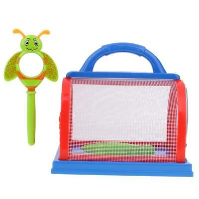 Kids/Children Bug Insect Feeding Box Cage with Magnifier & Tweezer Kit Red