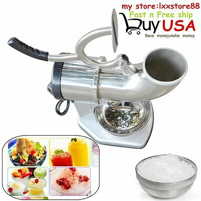 440lbs 250W Electric Ice Crusher Shaver Machine Snow Cone Maker Stainless Steel@