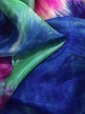 5Yrd Long X 90cm Wide(4momme)100% PURE NATURAL SILK FABRIC@£3/yard.Multicolor