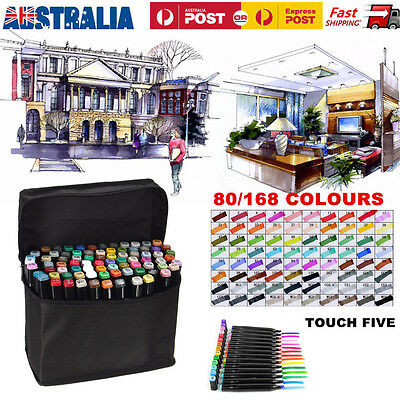 Touch Five Marker Pen 80/168 Color Set Graphic Animation Art Sketch Twin Point